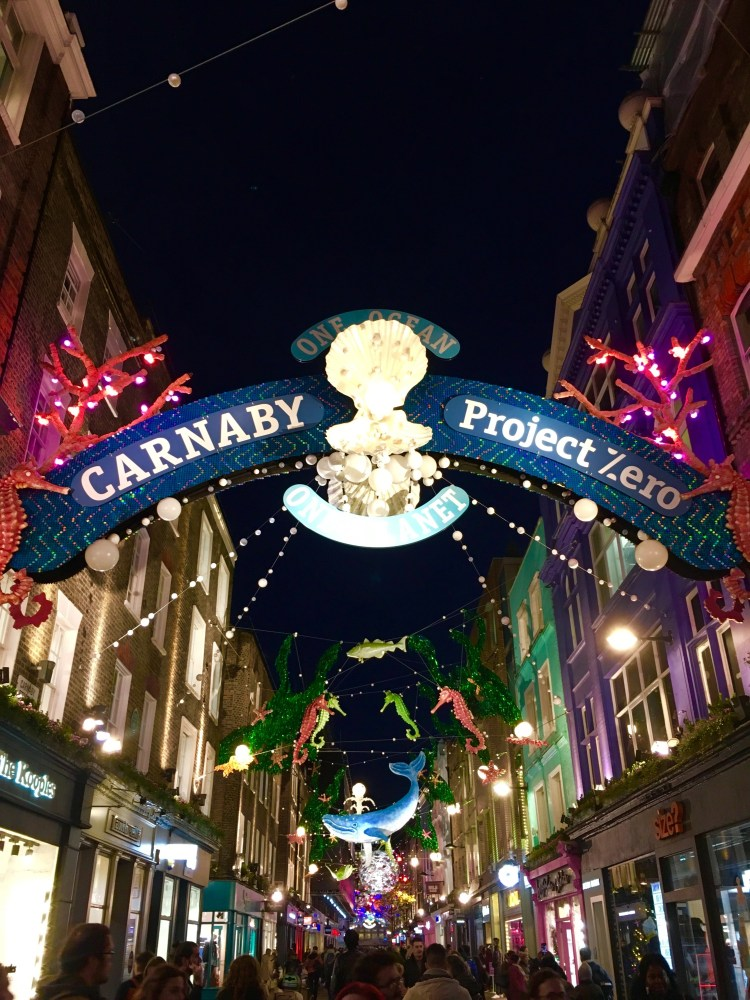 Carnaby Street and Project 0 London Christmas 2019