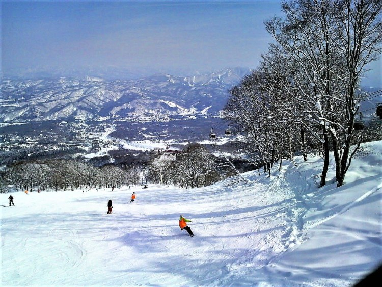 Japan's picturesque landscape in winter