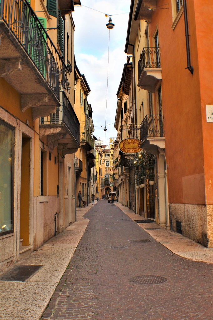 Some of the beautiful narrow alleys in Verona