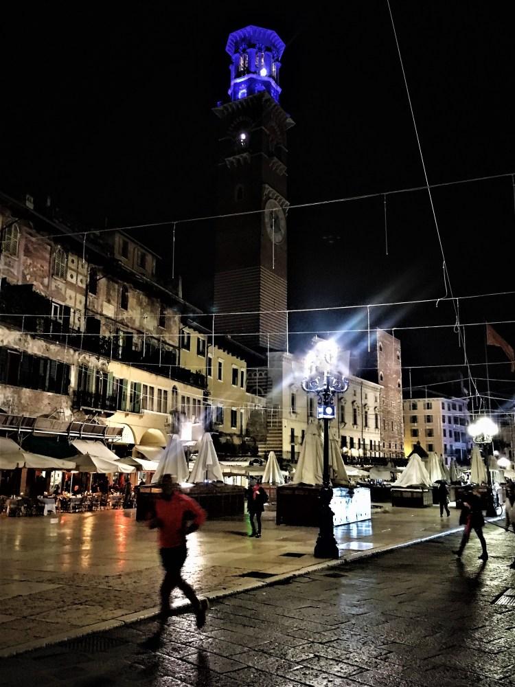 Torre dei Lamberti at night