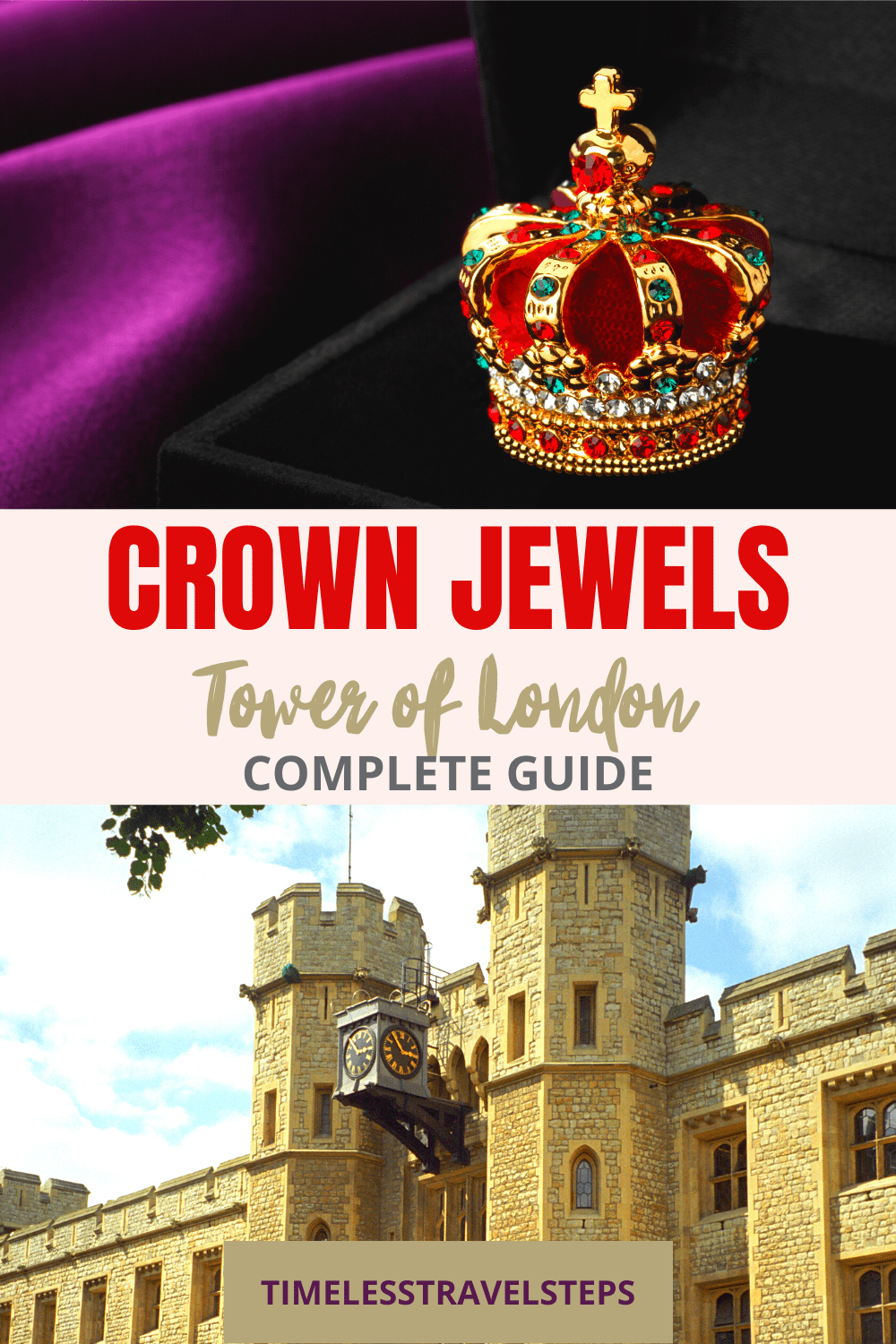 The most famous, and precious of British treasures, the magnificent Crown Jewels at the Tower is an embodiment of superb craftmanship. Take a look here and plan your next visit to the Tower of London | Tower of London | London Travel | Visit London | British History | The Royal Jewels | Historic Royal Palaces | Royal Collection Trust | Visit Britain | National Heritage | Royal Palaces | Train Travel in UK | Visit Scotland | Explore the Scottish Highlands via @GGeorgina_timelesstravelsteps/