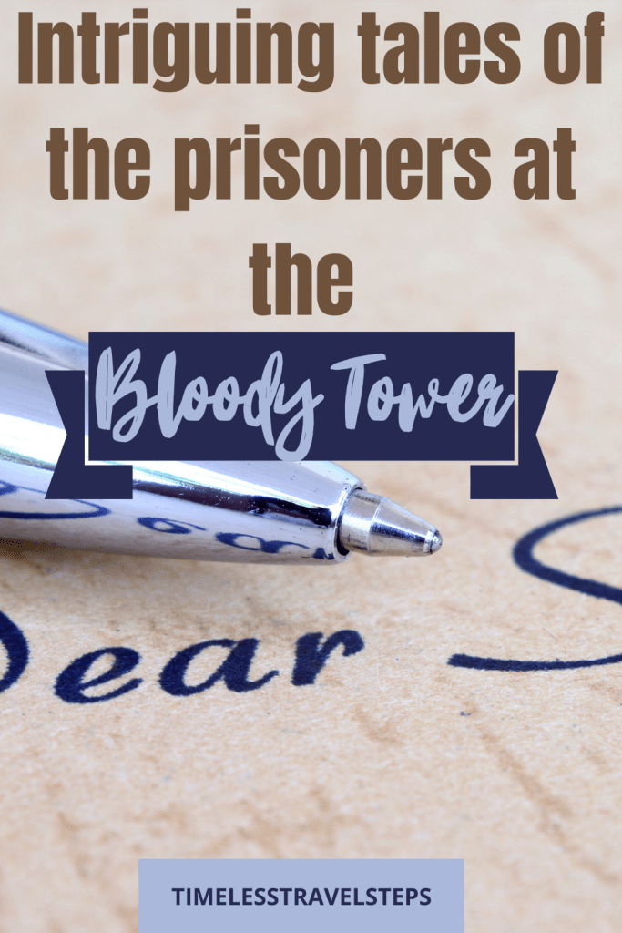 Books on prisoners of the Bloody Tower
