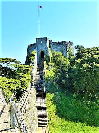 Steps up to the Castle Keep | Things to do at Carisbrooke Castle