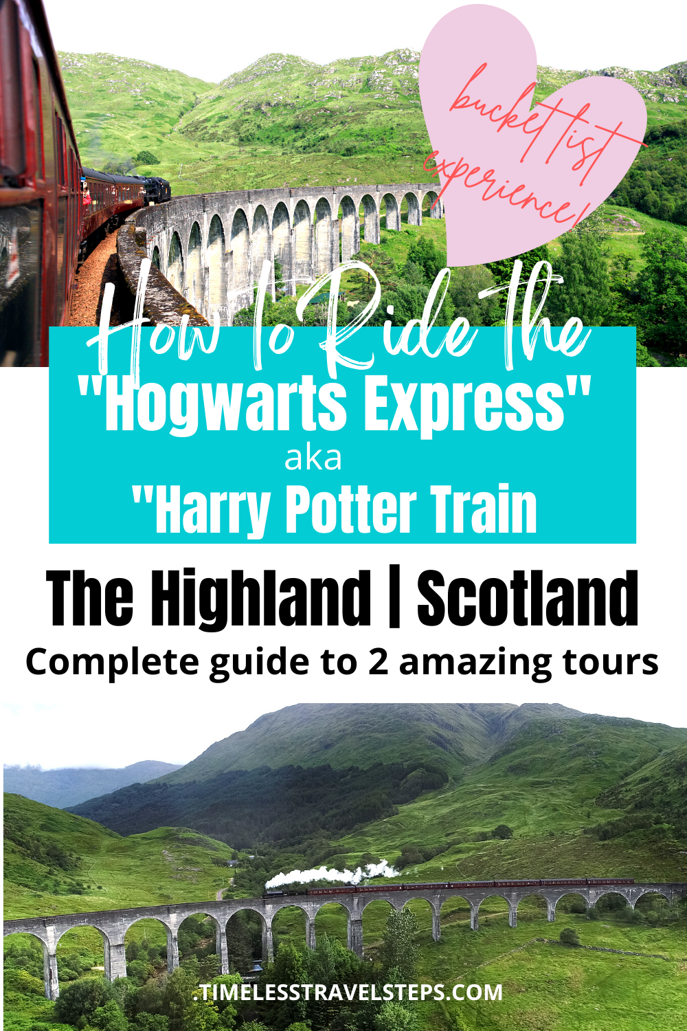 The Scottish Highland Tours | Scotland tours | Visit Scotland | Time travel in a Jacobite Steam Train | Ways to explore the Scottish Highland | Scotland | The Highland | Scenic Train Journeys | Mountains, Lochs and glens of Scotland | Ben Nevis | Day trips from Inverness | Day trips from Edinburgh | Glenfinnan Viaduct | Steam Train | Scotland Train Journey | Britain's most scenic train journeys | Best things to do in Scotland | Best tours in Scotland | Visit Scotland | Escape to the Highland. via @GGeorgina_timelesstravelsteps/