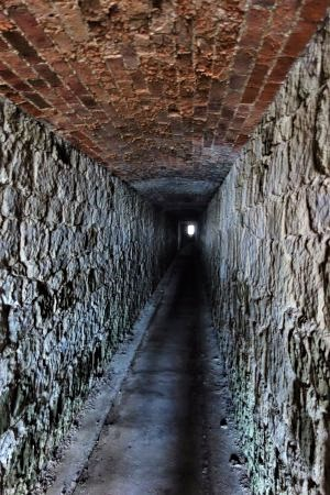 tunnel out to the sea cliffs - haunted places on the Isle of Wight