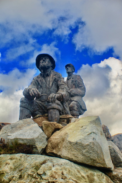 The Collie-Mackenzie memorial at Sligachan Cuillin Mountains Skye
