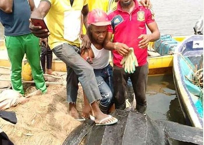 OMG!! See The Very Strange Animal That Was Caught In Bayelsa Waters (Photos)