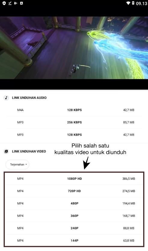 Download Video YouTube dengan Videoder