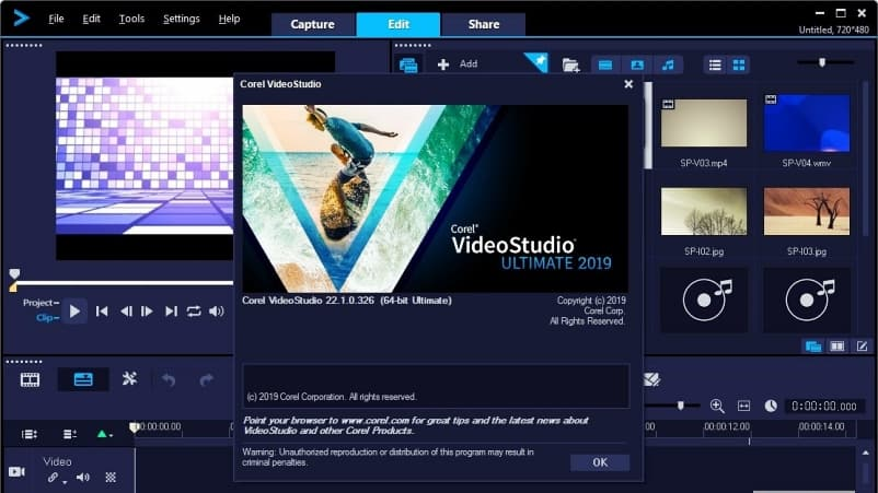 Aplikasi Video Editor PC - Corel VideoStudio