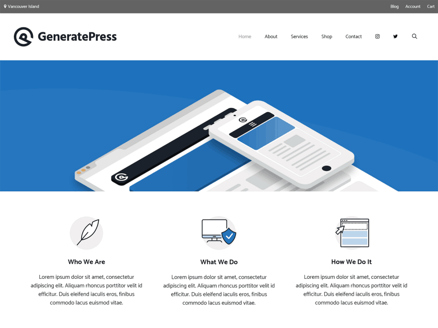 GeneratePress Template WordPress Premium Gratis + SEO Theme