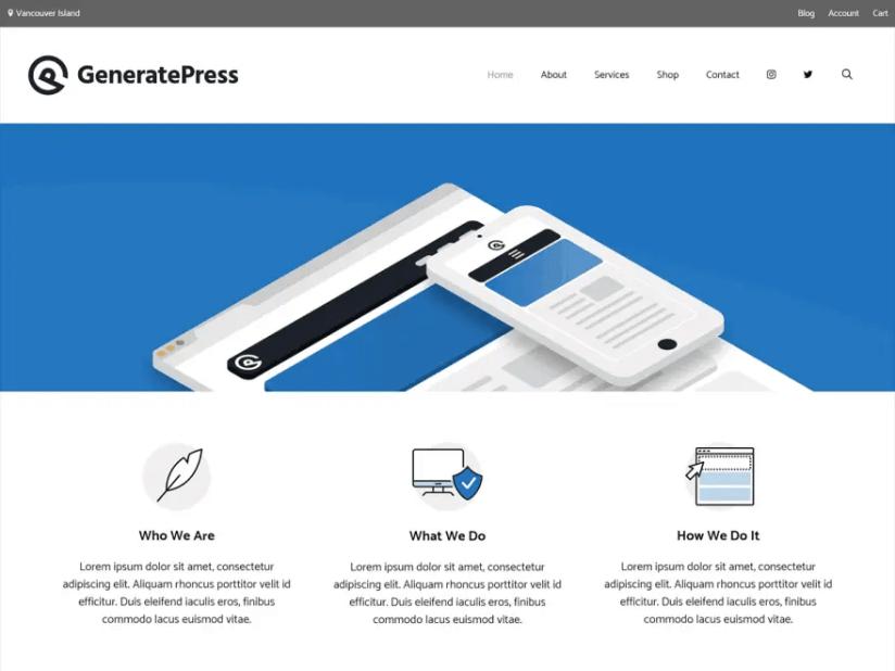 GeneratePress Template WordPress Premium Gratis + SEO Theme