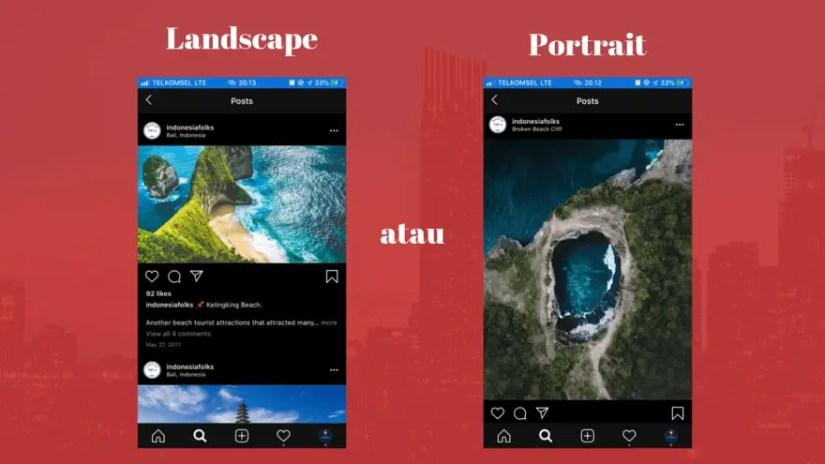 Ukuran Foto Instagram Portrait dan Landscape 2