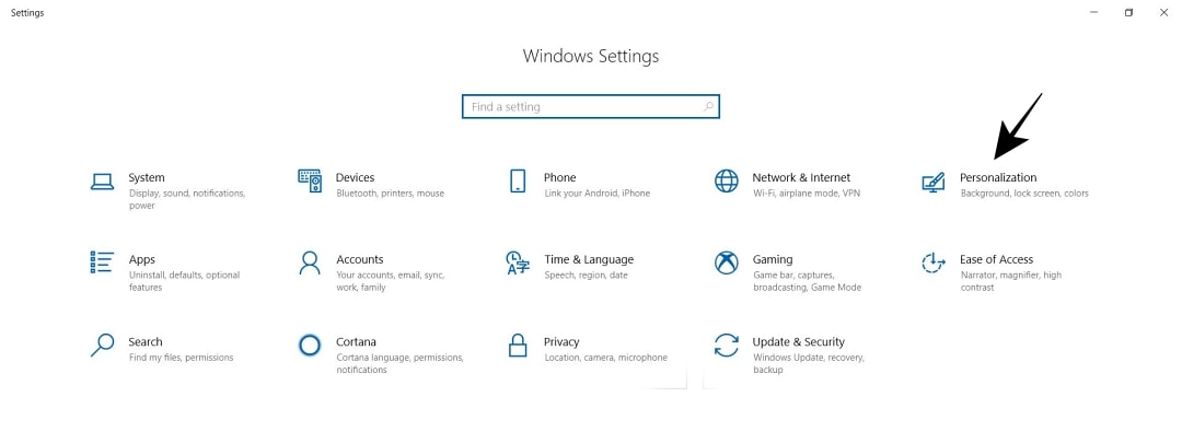 Buka Pengaturan Personalization dari Setting Windows 10