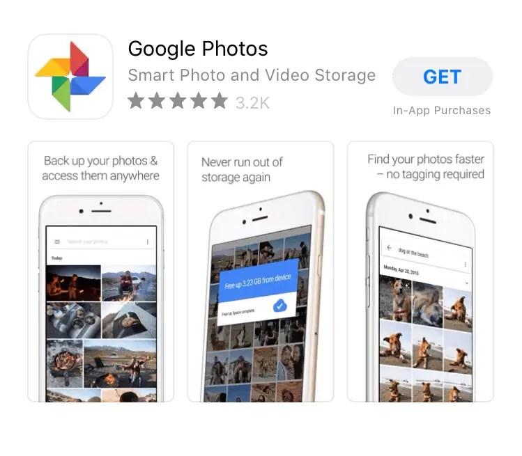 Install Google Photos di iPhone