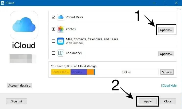 Settingan iCloud Desktop
