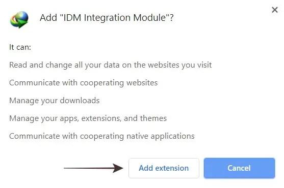 Tambah Ekstensi IDM ke Chrome