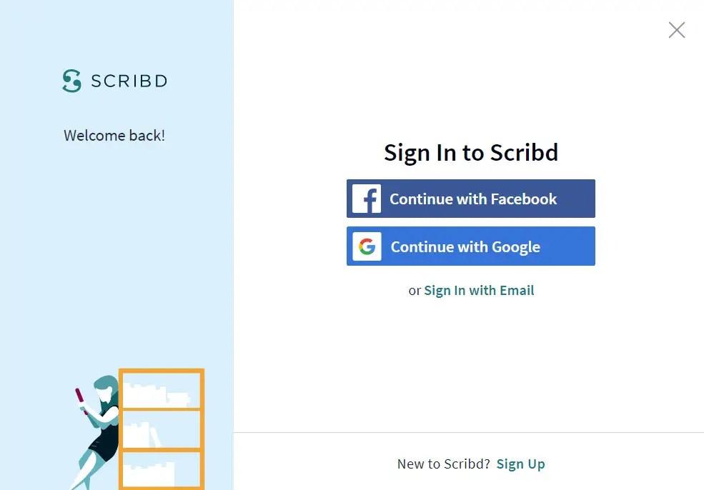Masuk dengan Akun Scribd