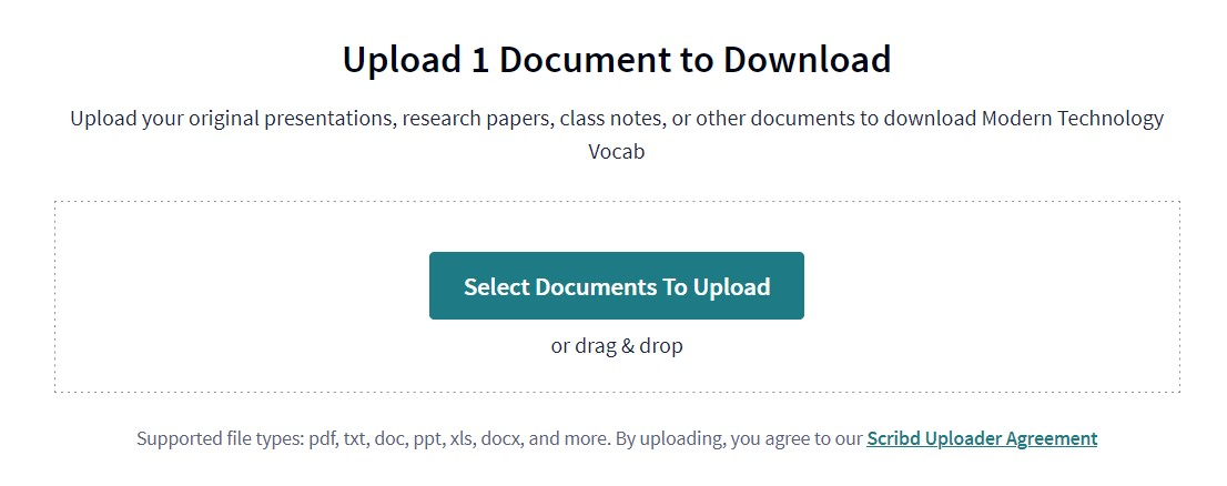 Pilih Dokumen yang ingin di upload