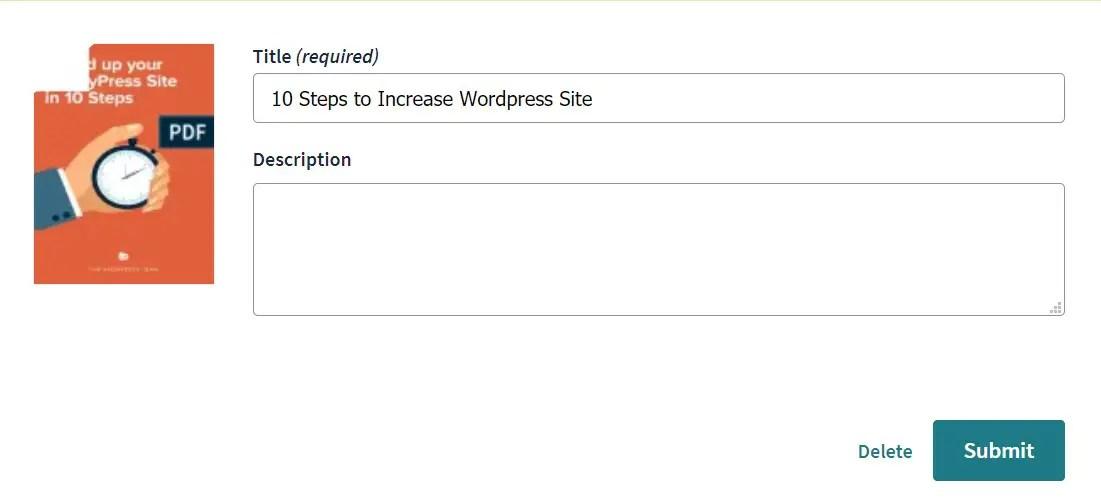Tekan submit untuk upload dokumen dari laptop ke Scribd