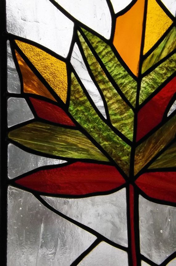 Stained Glass Class - Square Leaf Panel 1