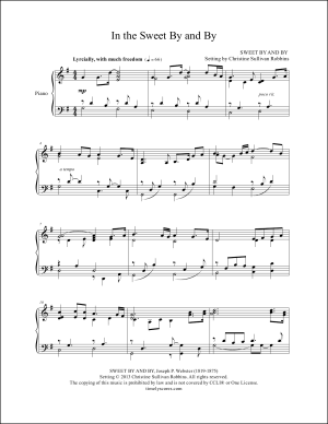 In the Sweet By and By Piano Sheet Music