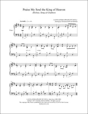Praise My Soul the King of Heaven Piano Sheet Music