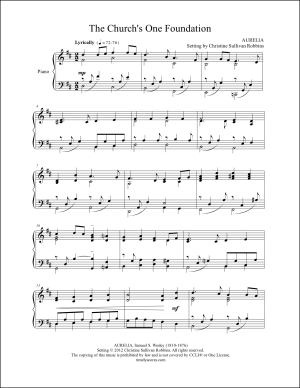The Church's One Foundation Piano Sheet Music