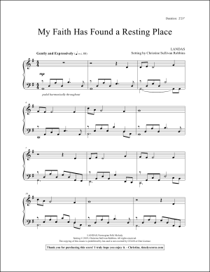 My Faith Has Found a Resting Place Piano Sheet Music