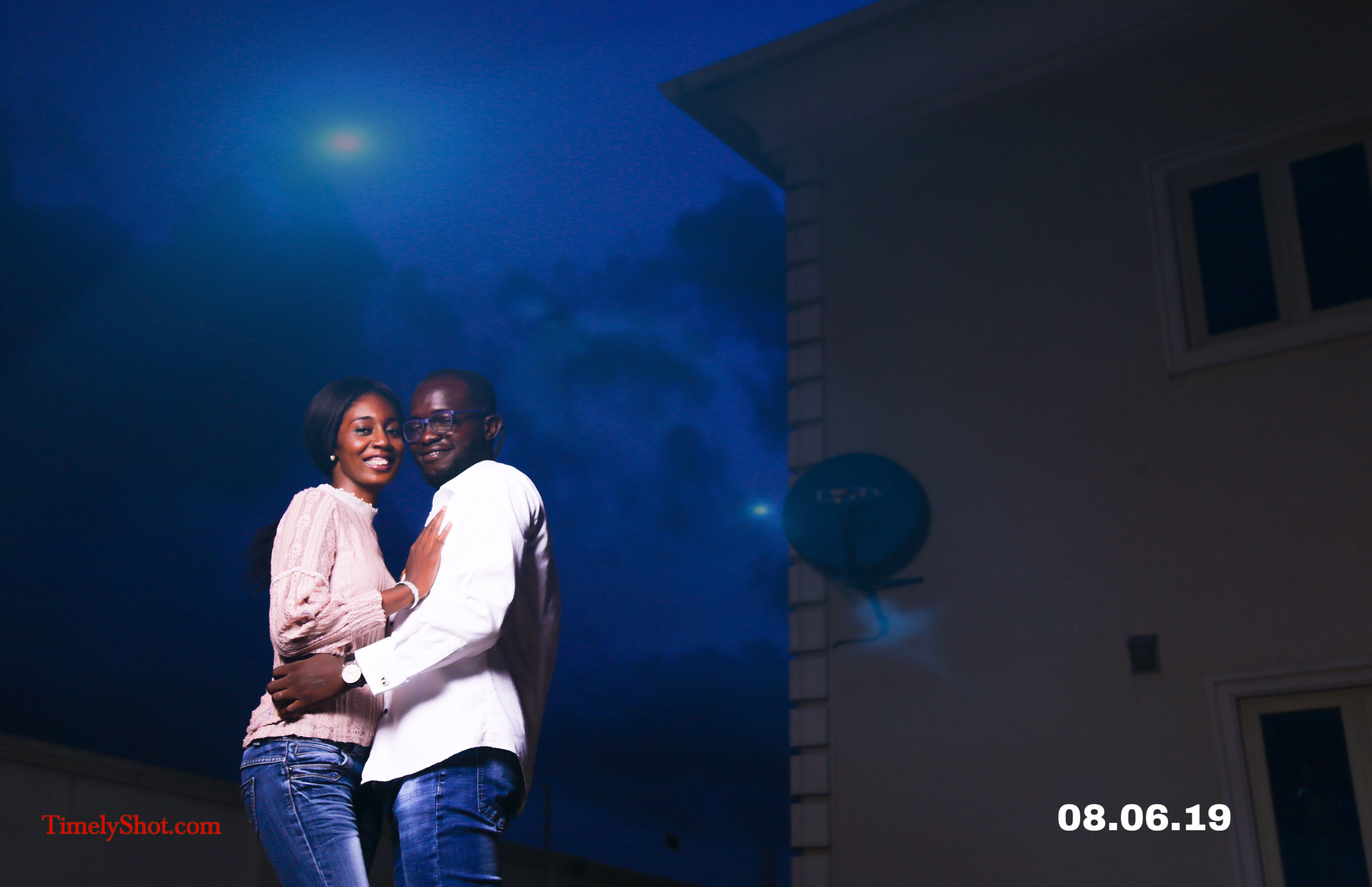 The couple under the moonlight minding their love business