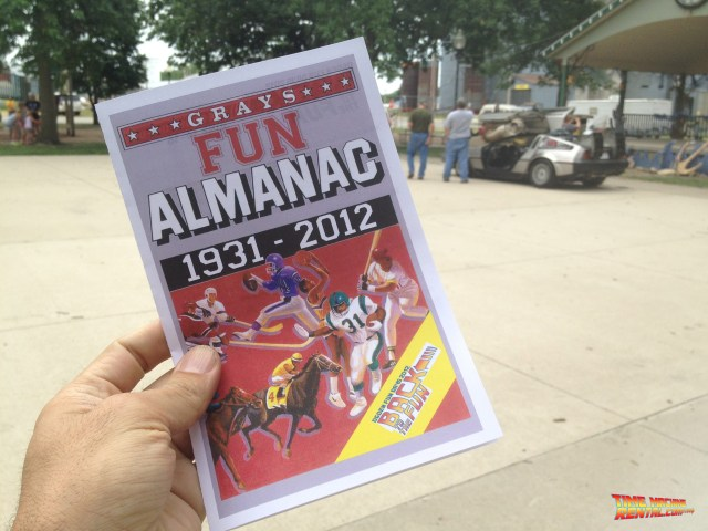 Ogden Fun Days Fun Almanac handed out to the participants who also saw the DeLorean Time Machine Rental