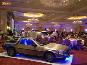 Another shot of the time machine as it awaits event activities that will bring the 1980s back for everyone.