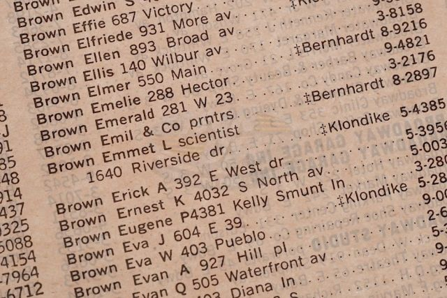 1955 Hill Valley Phone Book