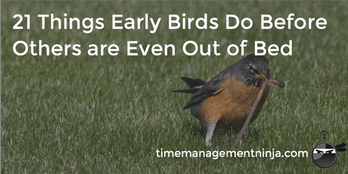 21 Things Early Birds Do