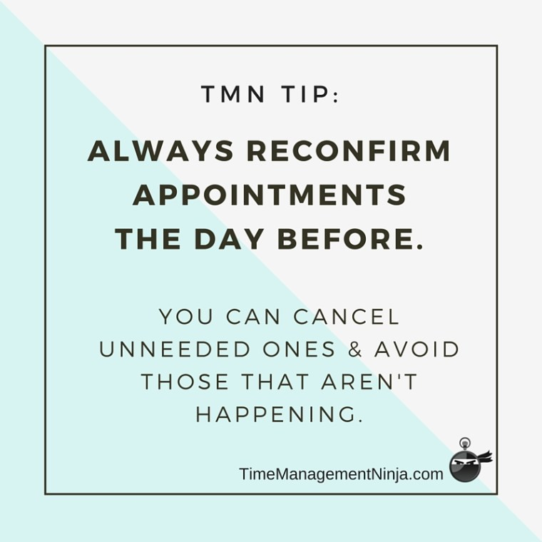 TMN Tip Confirm appointments