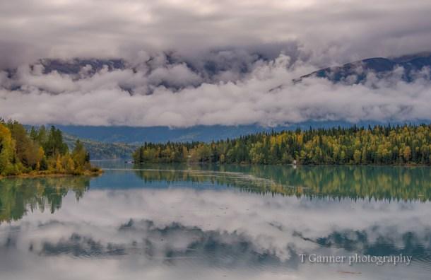 Alaska, autumn, foliage, Kenai,, reflection