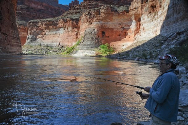 Grand Canyon, Colorado River, rafting, Vasey's Paradise, fishing