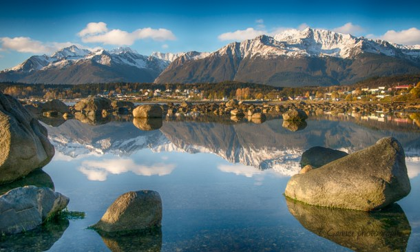Haines, Alaska, Fort Seward, Picture Point, reflection, Chilkat, Chilkoot, Chilkat Range