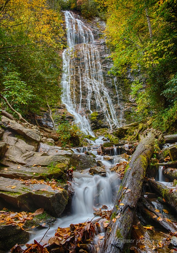 North Carolina, Mingo Falls, Cherokee, autumn, foliage, waterfall, Great Smokey Mountains, Blue Ridge Parkway, North Carolina Autumn