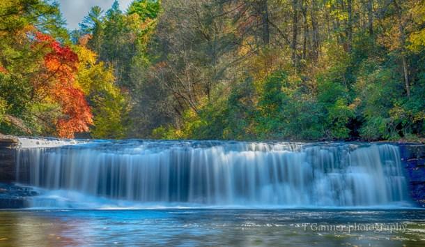 North Carolina, Brevard, Dupont State Forest, autumn, foliage, waterfall, Hooker Falls, North Carolina Autumn