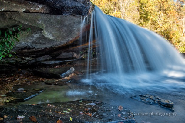 North Carolina, Brevard, Dupont State Forest, autumn, foliage, waterfall, Bridal Veil