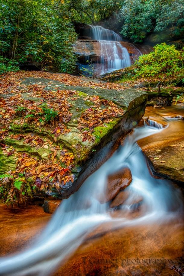 North Carolina, Brevard, Connestee Falls, autumn, foliage, waterfall, North Carolina Autumn