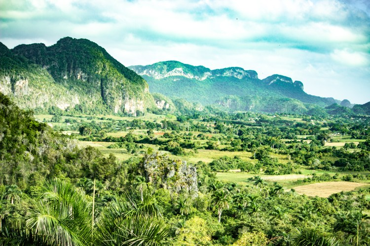 Vinales, where the famous tobacco is grown.