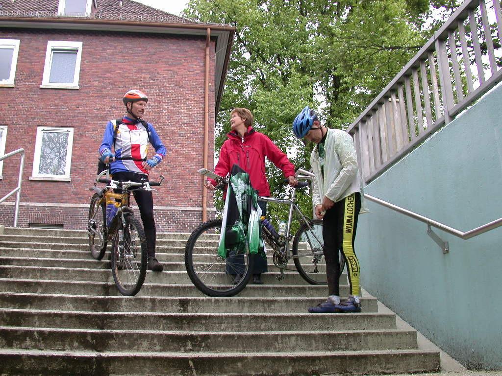 Marcel en Johan in Bielefeld.