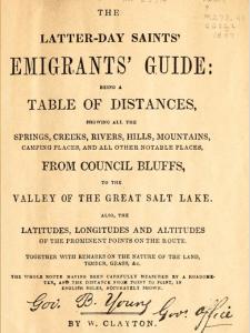 William Clayton's helpful guide book.