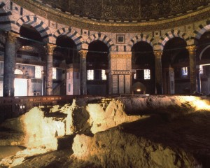Inside the Dome of the Rock: the spot of the mythic sacrifice