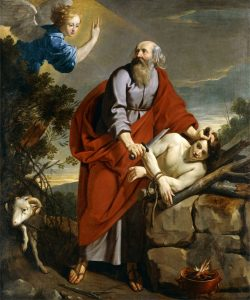 The famous dilemma story depicted by Abraham and Isaac, Philippe le Champaigne