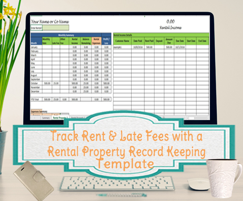 Use excel spreadsheet templates for tracking to conveniently record and tally your business expenses. Track Rent And Late Fees Landlord Expenses Spreadsheet Rental Property Record Keeping Template