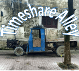 Timeshare Alley Logo - Many old trucks like this roam the streets of lili, China.