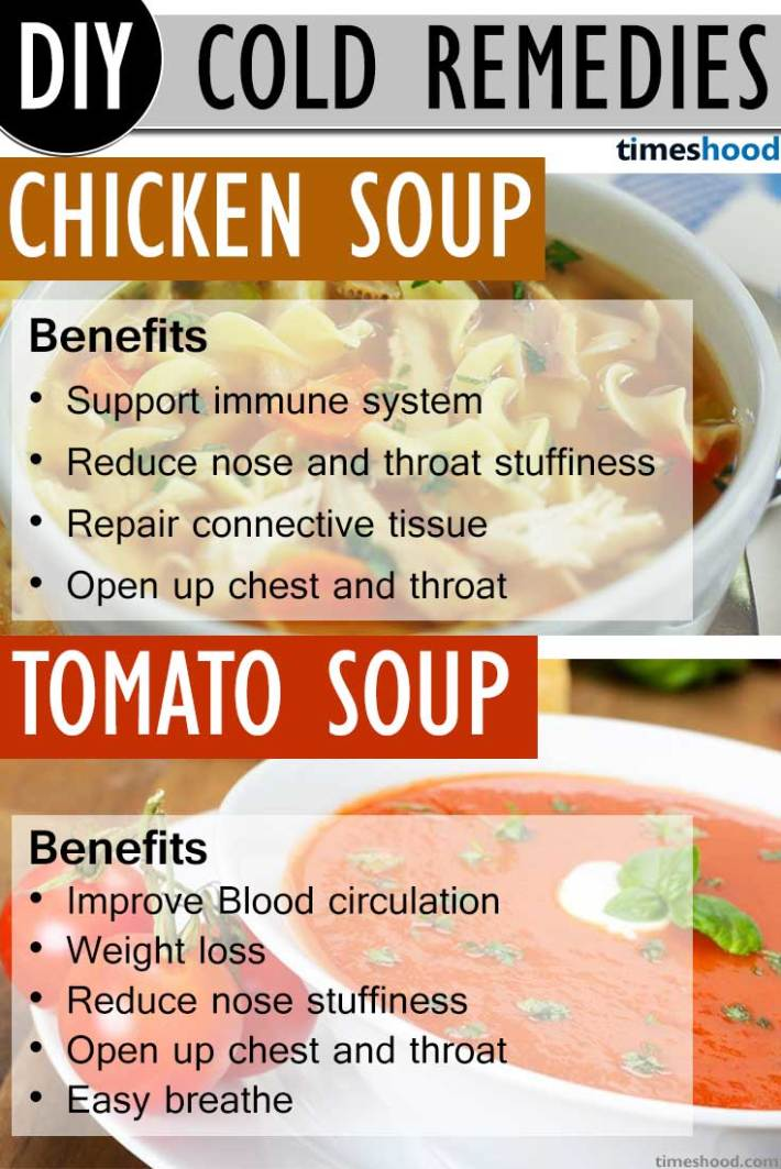 Drink Hot Soups To Get Rid Of Common Cold. Drink these two soup during cold; Chicken soup and Tomato soup, One of the effective way to get rid of common cold very fast. Benefits of drinking hot soups during common cold. Natural common cold remedies how to get rid.