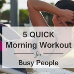 5 Quick Morning Workout Routine at home
